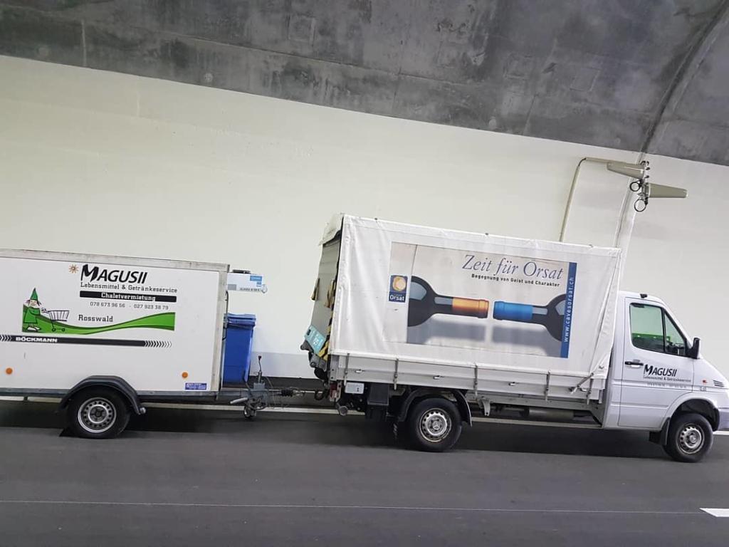 Magusii Anlässe Getränkeservice Lieferwagen